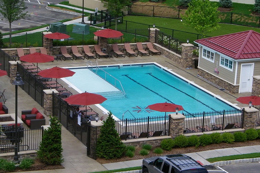 Outdoor Pool Wading Area Commercial Pool Design by Omega Pool Structures, Inc