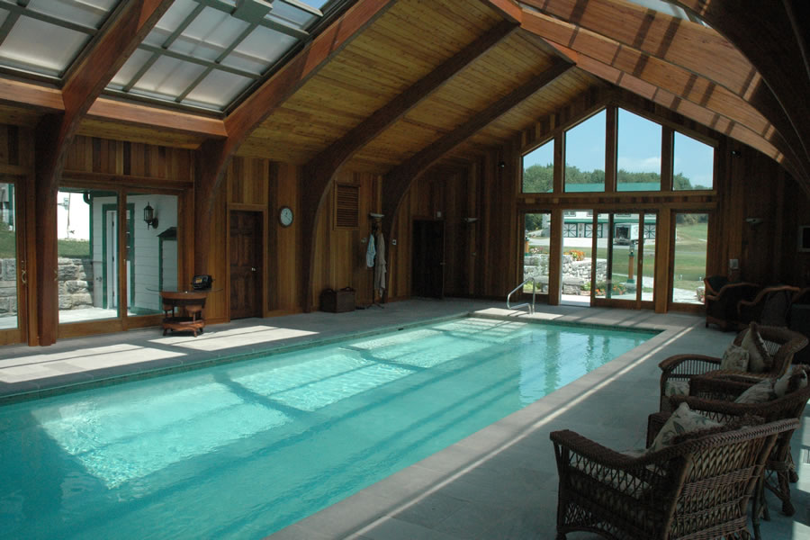 Indoor Pool Sparta, New Jersey Residential Pool Design by Omega Pool Structures, Inc