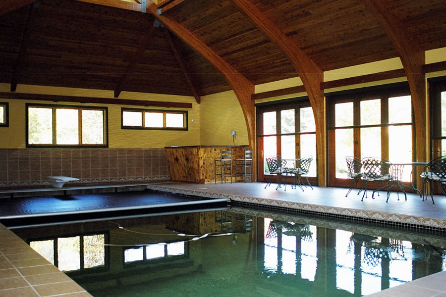 Indoor Lap Pool and Spa Princeton, New Jersey Residential Pool Design by Omega Pool Structures, Inc