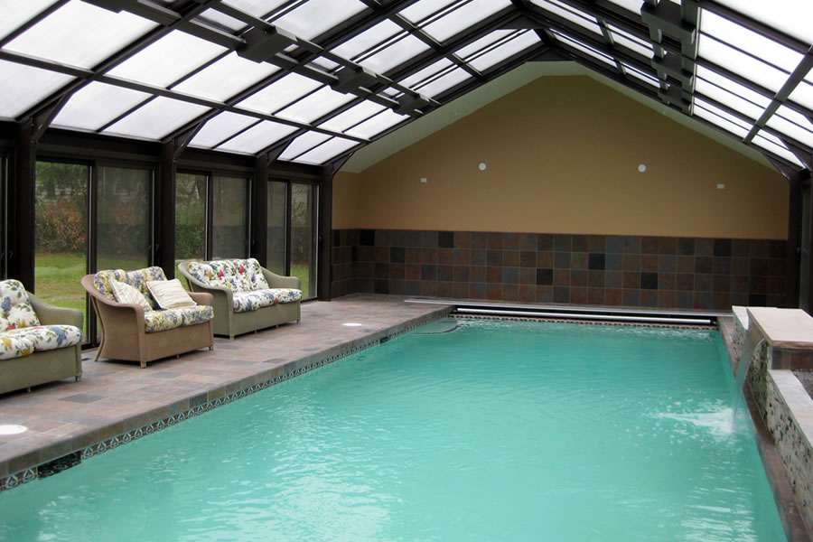 Indoor Pool Bryn Mawr, Pennsylvania Residential Pool Design by Omega Pool Structures, Inc