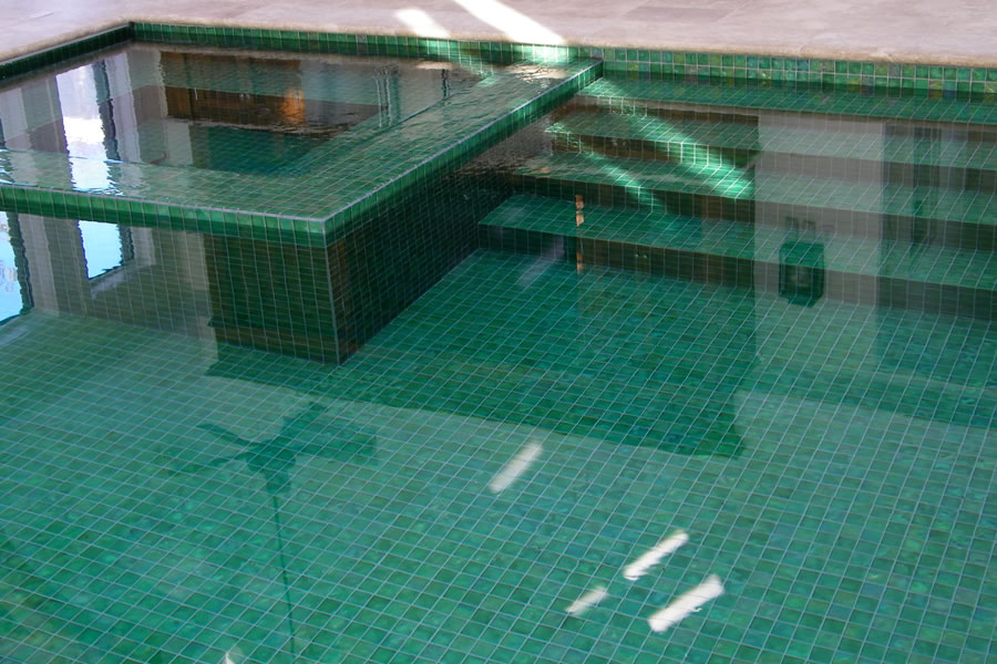 Indoor Pool With Custom Tile Residential Pool Design By