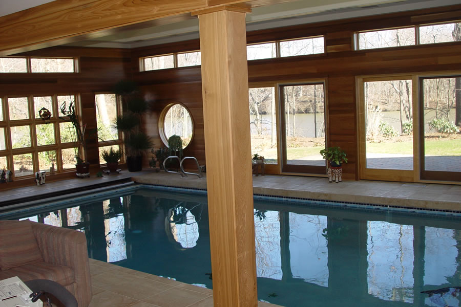 Indoor Pool with Therapy Design Colts Neck, New Jersey  Residential Pool Design by Omega Pool Structures, Inc