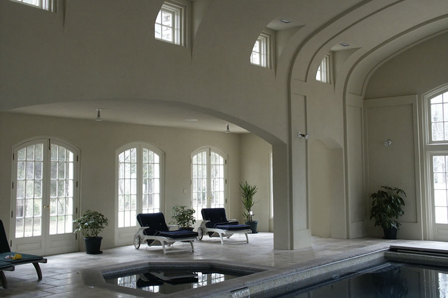 Indoor Rustic Pool New Vernon New Jersey Residential Pool Design by Omega Pool Structures, Inc