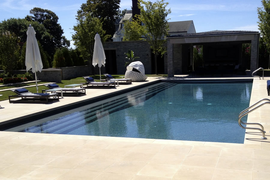 Outdoor Lap Pool Residential Pool Design by Omega Pool Structures, Inc